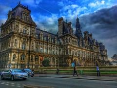 Paris France - The Hôtel de Ville - City Hall - Landmark Monuments