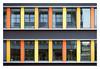 Lampensymmetrie (schu.j) Tags: rub ruhruniversitätbochum kleinbild 35mm analog analogue film devscan entwicklung development farbe c41 colour universität university fenster window linien lines stuktur structure geometrie geometry architektur architecture gebäude building