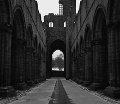 Kirkstall Abbey (ChrisGibson2016) Tags: kirsktall abbey structures history hitorical landscape dark bw black white blackandwhite heritage leeds yorkshire ruins scenic famous visityorkshire canon winter 2018 home grey gray negro noir darkened street