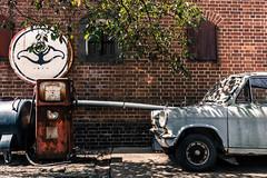 Stuck in a time warp (Hiro_A) Tags: ozu ehime shikoku japan mazda car redbrick nikon d7200 sigma 1770mm 1770