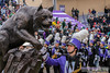 Pound It (Daniel M. Reck) Tags: b1gcats dmrphoto date1028 evanston illinois numb numbhighlight northwestern northwesternathletics northwesternuniversity northwesternuniversitywildcatmarchingband unitedstates year2017 altosax animal band cat college education ensemble feline instrument marchingband music musicinstrument musician sax saxophone school statue university wildcat