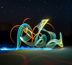 Dancing on the edge. (Nikolas Fotos) Tags: lightpainting lightart llightpainting lihgt longexposure longexposurephoto lichtmalerei lightpaintingphotography lichtkunst light nightshot nightphoto nightphotography nightscape night nightsky nightlights