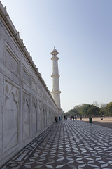 Taj Perspective (Mike Legend) Tags: india agra taj mahal minaret tower plinth