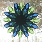 Navy Blue and Lime Green Window Star thumbnail