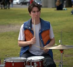 Drummer (Scott 97006) Tags: drums drummer guy man male sticks bang beat park