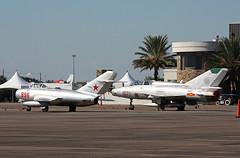 N996 MiG-15 & N21EV MiG-21UM (corkspotter / Paul Daly) Tags: 1950 mikoyangurevich mig15 cn 122071 kefd efd ellington wings over houston 2016 1974 mig21um 516921071 1071
