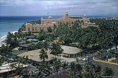Kalakaua BEV Waikiki West 1957 (Kamaaina56) Tags: 1950s waikiki hawaii aerial outriggerclub outriggerarcade slide royalhawaiian