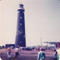 Dungeness Lighthouse (The original SimonB) Tags: film scanned 1981 dungeness kent lighthouse