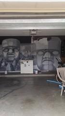 Progress 5 (weirdling) Tags: painting black white stones blocks olmec heads grey wall