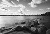 Raging Water (Bunaro) Tags: uutela aurinkolahti vuosaari finland suomi helsinki landscape waterscape sea ocean water rocks longexposure spring moving clouds clear sky monochrome blackandwhite