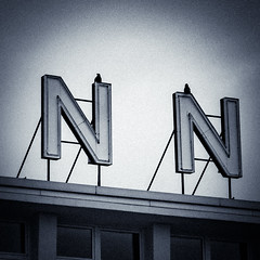 Sitting on N N (genelabo) Tags: brügelmann cologne köln genelabo vögel quadrat taube birds nn spuare roof house architecture letter buchstaben