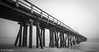 Port Hueneme Pier on a Cloudy Day (CarlosDominguez812) Tags: porthueneme hueneme southerncalifornia venturacounty pier ocean pacificocean fog canon ef 1740 f4l 6d ef1740mmf4lusm canoneos6d blackandwhite bw landscape photography long exposure longexposure canon6d canonef1740mmf4l