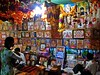 Khajuraho 13 - devotional stall (juggadery) Tags: 2015 india madhyapradesh khajuraho people religion hindu art