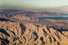 Hills over Lake Mead (Anna Gurule) Tags: hill mountain desert lake mead lakemead flying airplaneshots airplaneview airplane vacation artedgy annagurule annaortizgurule sandy hills