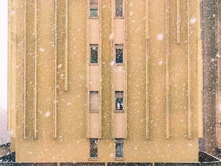 When outside is snowing