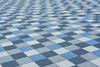 Blue and grey tiles (Jan van der Wolf) Tags: map172240v tiles tegels patroon pattern grey grijs blue blauw herhaling repetition dof depthoffield scherptediepte abstract