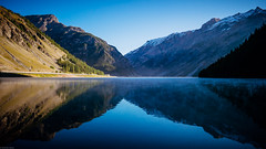 (38/52) Lago di Livigno in the morning. (andrzejsykut) Tags: 52 weekly 52project livigno livigno2017 lake lagodilivigno alps reflection artofvisuals myfeatureshoot landscape symmetry