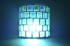 Blue Enigma (Robin Shepperson) Tags: blue enigma d3400 nikon berlin germany theatre glass macro green art fun light up close
