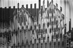 (von8itchfisk) Tags: ishootfilm filmisnotdead film 120film mediumformat blackandwhite tudor house lavenham suffolk eastanglia selfdeveloped analog analogphotography stripes doubleexposure noedit incamera incameraeffect fomapan architecture geometric lines