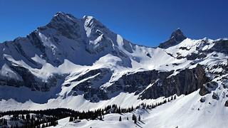 Ortstock (2717m) And Höchturm (2666m) Glarus, Switzerland