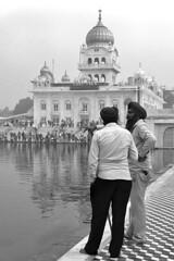 India - New Delhi (luca marella) Tags: newdelhi asia black white bianco e nero bw bn bnw street luca marella photographer social reportage temple portrait travel photo smile people sik persone nella foto gurudwara bangla sahib india