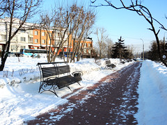 Benches (MelindaChan ^..^) Tags: irkutsk russia 俄羅斯 伊爾庫次克 znamensky monastery 斯納門斯基修道院 教堂 伊爾庫茨克 church siberia 西伯利亞 worship pray chanmelmel mel melinda melindachan snow cold winter tree nunnery 斯纳门斯基修道院 斯纳门斯基 修道院 nun bench