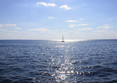 Solo Sail Boat (urvesphotography) Tags: sail boat sailboat sailing sunrays sun shimmers ocean sea hyannis massachusetts usa