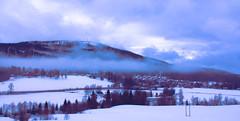 Fallen clouds (evakongshavn) Tags: norge norway mist fog clouds sky village landscape landschaft paysage mountain blue bluetiful