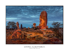 Living Sculptures Broken Hill (sugarbellaleah) Tags: brokenhill sculpture rock sandstone nature desert pretty dusk stone landform outback remote bajoelsoljaguar australia sky earth travel tourism beautiful location vacation livingsculptures