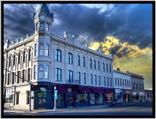 Geiser Grand Hotel - Baker City Oregon - Historic Hotel at Sunset
