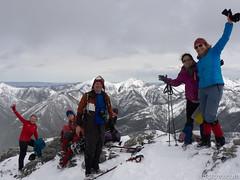 Hiking Group on Wasootch II (David R. Crowe) Tags: outdooractivities scrambling seasons time winter snow kananaskis alberta canada