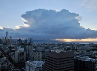 Cloud over the east bay