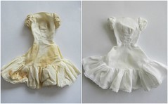 White, again! (Foxy Belle) Tags: doll dress tlc white barbie repair clean dirty oxy stain removal vintage