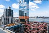 Rooftop View and Reflection (20180418-DSC02312) (Michael.Lee.Pics.NYC) Tags: newyork hudsonyards architecture construction cityscape aerial rooftop theshed vessel curtainwall glass windows reflection dillerscofidiorenfro relatedcompanies newhudsonfacades hudsonriver hoboken newjersey sky clouds railyard trains sony a7rm2 fe24105mmf4g