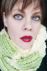 model: mamma (Sexy Swedish Babe) Tags: selfportrait sexyswedishbabe ssb knitting yarn scarf scarves color 20152016