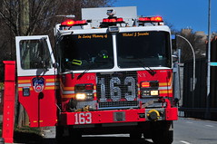 FDNY Engine 163 (Triborough) Tags: ny nyc newyork newyorkcity richmondcounty statenisland castletoncorners fdny newyorkcityfiredepartment firetruck fireengine engine engine163 kme garbage badquality dangerous shoddy