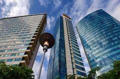 building (abtabt) Tags: trinidadandtobago tt portofspain pos parliament architecture building skyscraper waterfront hotel d700sigma1224 up lamp glass reflection glasscurtainwall