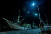Labuan Bajo harbor night (6231) (Stefan Beckhusen) Tags: night nightshot nightlights harbor harbour boats ships dock quai maritime labuanbajo flores indonesia asia travel transport