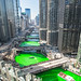 The Chicago River turns green for St. Patrick's Day. 2018
