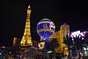 Las Vegas Strip by Night (aixcracker) Tags: nikond800 lasvegas think2018 nikon 35mm 20d evening kväll ilta parisparis tower torn torni balloon balong pallo usa march mars maaliskuu