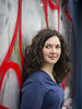 Laura, Amsterdam 2018: Graffiti grace (mdiepraam) Tags: laura amsterdam 2018 ndsm portrait pretty attractive beautiful elegant classy gorgeous dutch brunette girl woman lady naturalglamour curls dress graffiti urbex