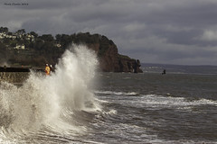 Hi Viz (Nobby1968) Tags: coast devon teignmouth storm waves sky workers ocean landscape