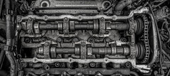 Cranky..... (Kevin Povenz Thanks for all the views and comments) Tags: 2017 june kevinpovenz westmichigan kentcounty michigan auto automobile car engine blackandwhite bw crankcase