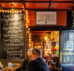 Menu Board ( Seven Stars Pub - Holborn) (Fujifilm X100F) (1 of 1) (markdbaynham) Tags: fuji fujifilm fujista x100f fujix transx fujix100f apsc fixedlens primelens compact london londonist londoner capital capitalcity gb uk centrallondon urban metropolis