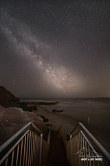 'Star Stairs' (macdad1948) Tags: jurassic milkyway stars waves geoneedle odcombepoint sea exmouth astro devon