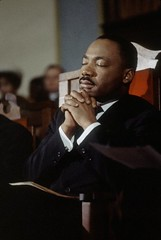 Rev. Martin Luther King, Jr. (broadnaxsandra) Tags: t1700377timeincnotownphotogra church civilrights mustache facialhair religiousleaders handsclasped incidentalpeople male onepersononly selma al unitedstates