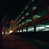 San Jose (bior) Tags: hasselblad500cm square mediumformat night longexposure sanjose sjsu parkinggarage portra160 kodakportra portra distagon zeiss