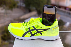 ASICS running shoe being used as a smartphone tripod (marcoverch) Tags: peguera illesbalears spanien es asics running shoe being used smartphone tripod noperson keineperson foot fus outdoors drausen summer sommer child kind travel reise wear tragen street strase footwear schuhwerk nature natur soccer fusball people menschen schuh fashion mode competition wettbewerb sneakers turnschuhe two zwei man mann woman frau action aktion painting rural pattern locomotive mar italia digital bus weather happy