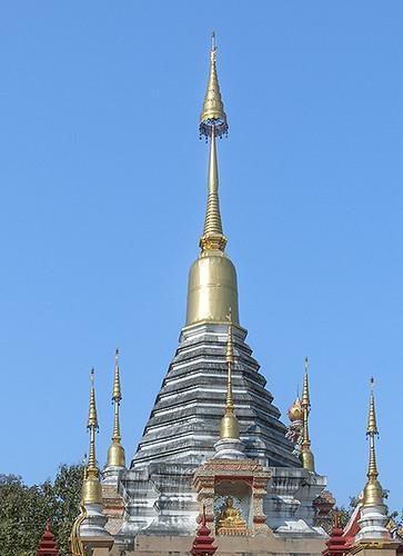 Wat Pa Neramit Mae Taeng Phra Chedi Pinnacle (DTHCM2056) วัดป่าเนรมิตแม่แตง สิขร พระเจดีย์