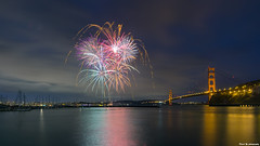 San Francisco Fireworks (davidyuweb) Tags: fireworks sanfrancisco goldengatebridge fort baker sfist luckysnapshot pier 39